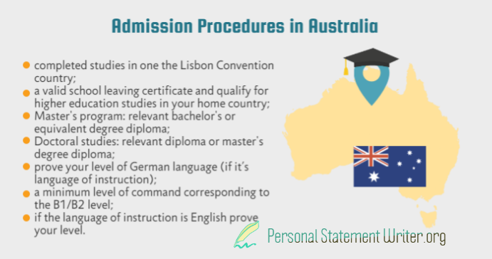 admission procedures in australia