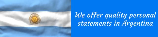 argentina personal statement