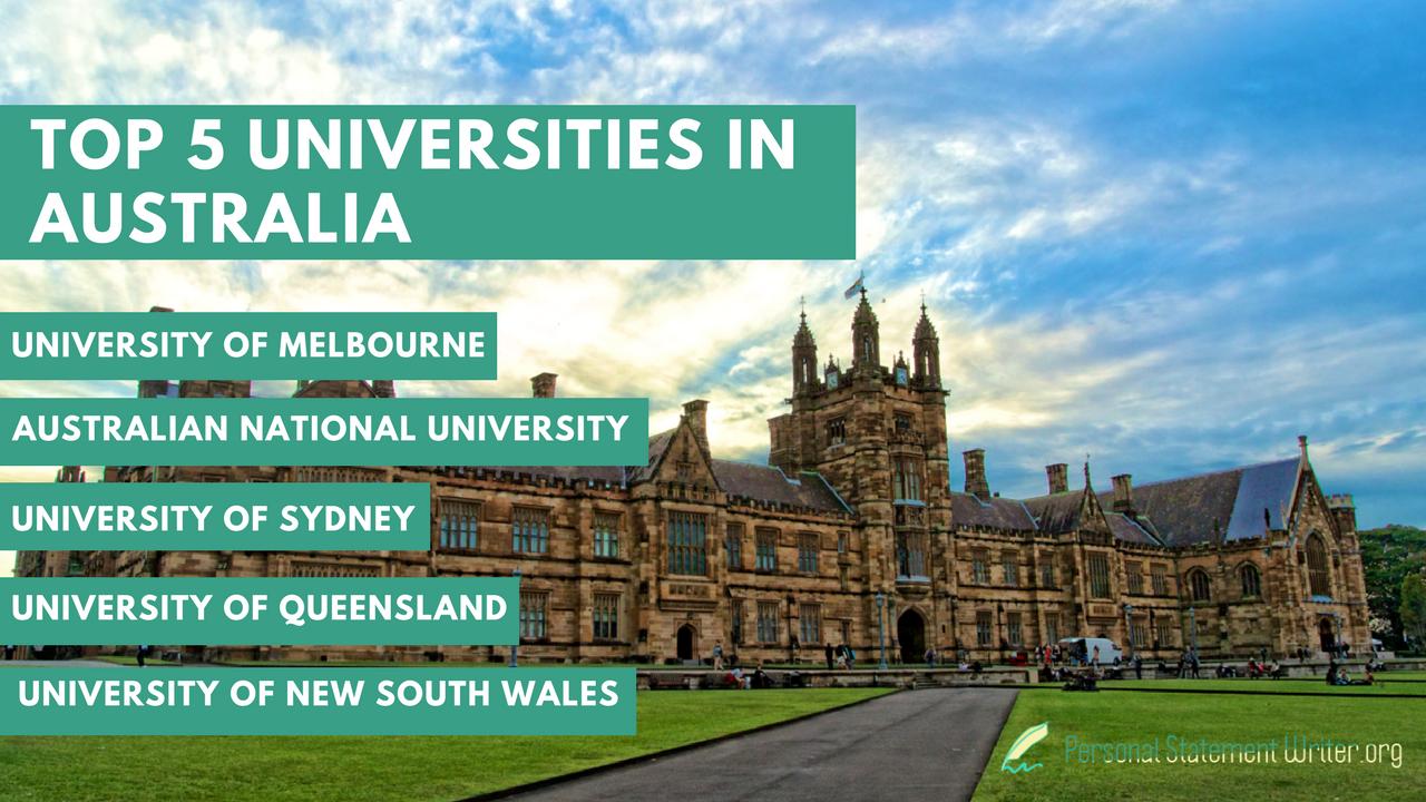 australia personal statement for university