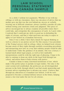 personal statement law school canada