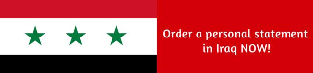 Iraq personal statement for postgraduate