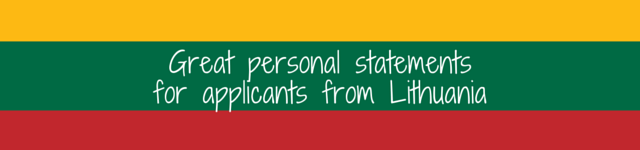 lithuania personal statement