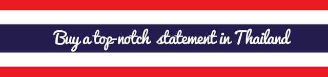thailand personal statement