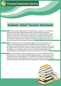 graduate school personal statement sample