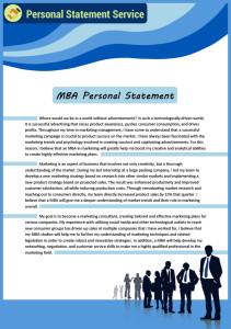 mba personal statement sample