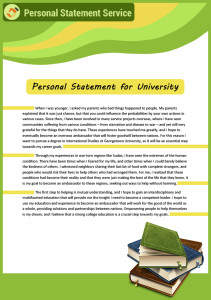 personal statement for university sample