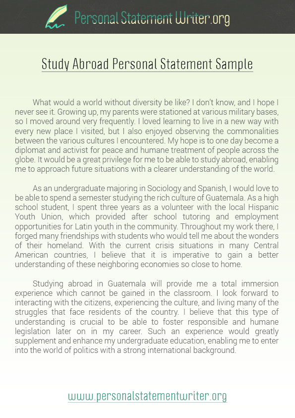 High School Personal Statement Sample Essays Sample Essay For High