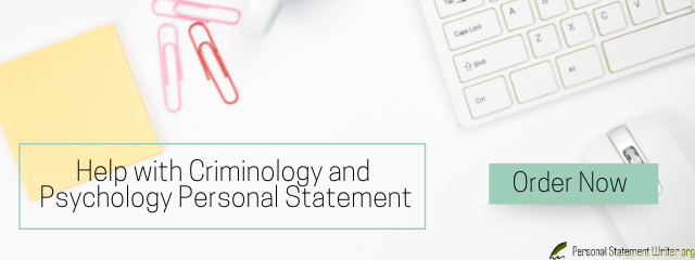 criminology and psychology personal statement help