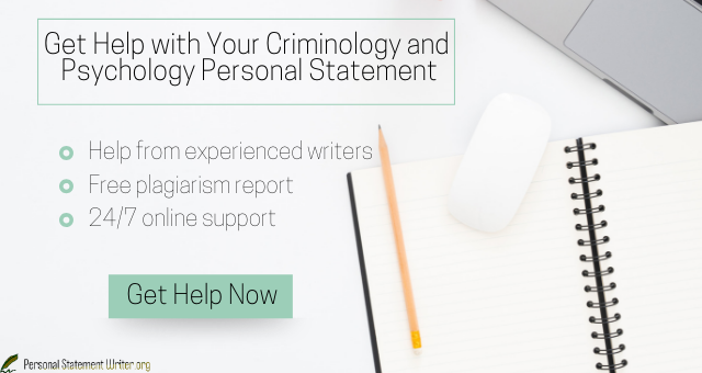 personal statement examples criminology