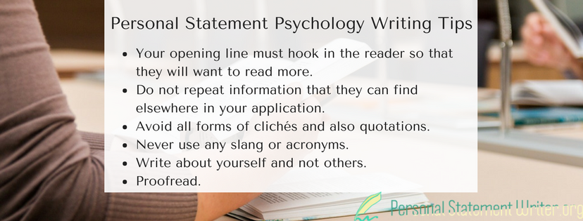 personal statement psychology writing tips