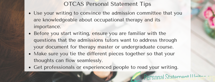 otcas personal statement tips