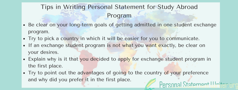 tips in writing personal statement for study abroad program