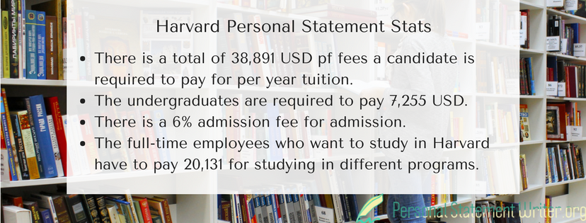 harvard personal statement stats