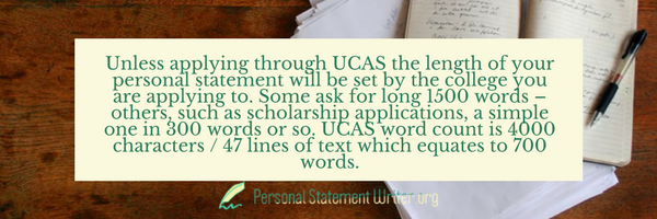 personal statement for scholarship 300 words