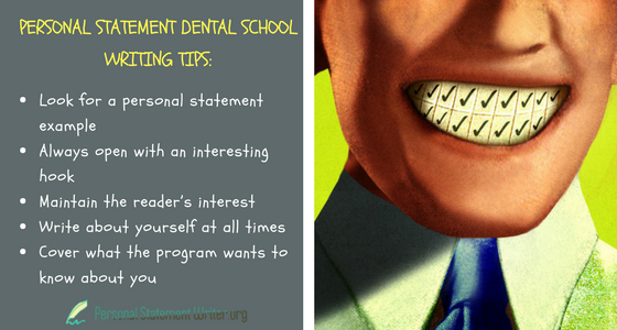 personal statement dental school writing tips