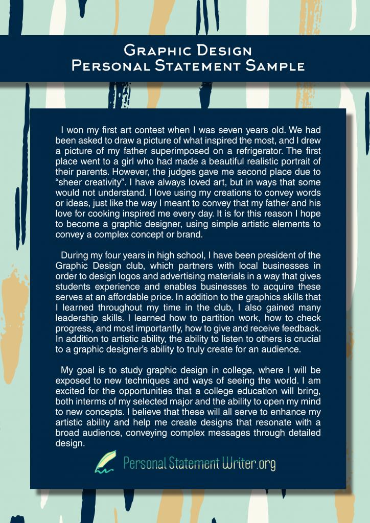 Graphic Design Personal Statement
