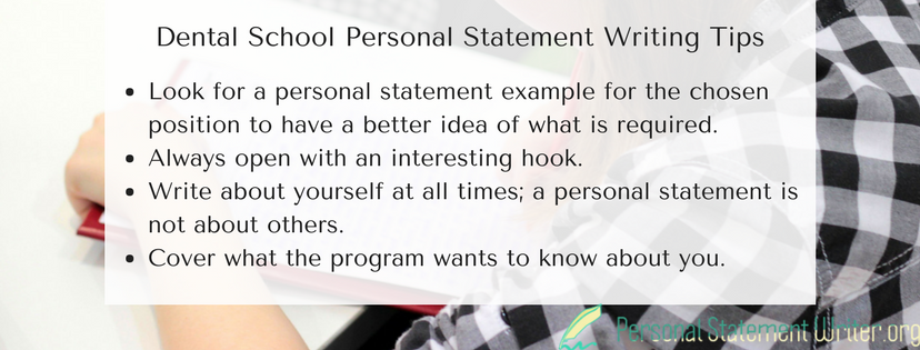 dental school personal statement writing tips