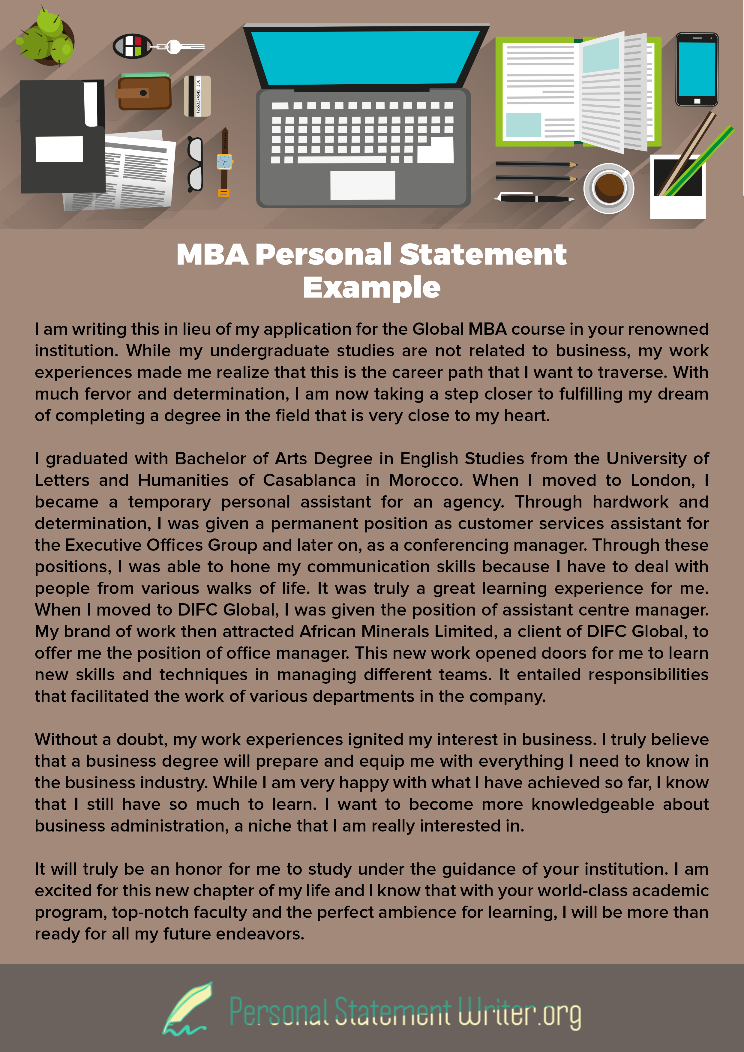 mba personal statement example