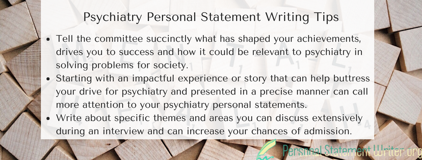 psychiatry personal statement writing tips