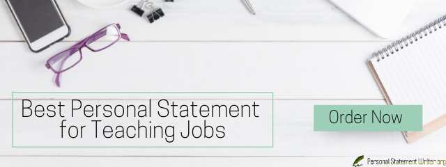 best personal statement for teaching jobs