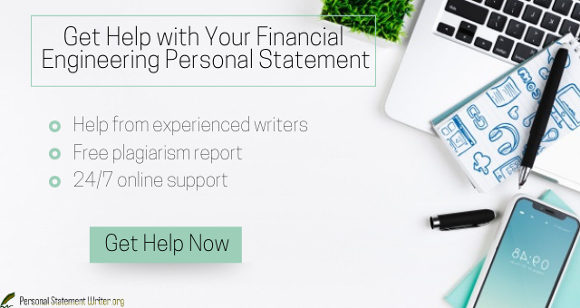 financial engineering personal statement
